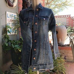 Extra Long Jean Jacket